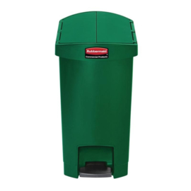 DJ763 - Rubbermaid Slim Jim End Step pedaalemmer groen 30 ltr