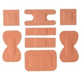 Y680 - Pleisters katoen assorti 100 stuks