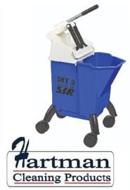 992361 - SYR Sky 3 Combo mobile mopsysteem met geïntegreerde wringer 10 liter kleurcode blauw