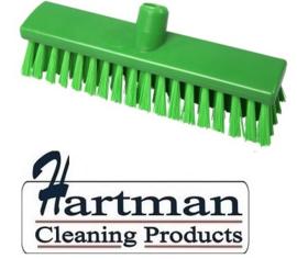 21710125-5 - FBK Hoogwaardige kleurcode HACCP Polyester hygiënische kunststof medium bezem 300 x 60 mm groen 23155