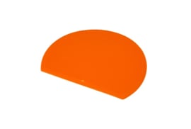 63080117 - Hoogwaardige kleurcode HACCP hygiënische deegschraper 160 x 125 mm oranje
