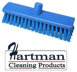 21710125-2 - FBK Hoogwaardige kleurcode HACCP Polyester hygiënische kunststof medium bezem 300 x 60 mm  blauw23155