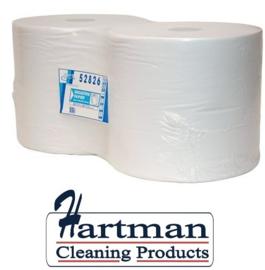 P52826 - Euro cellulose zwaar industriepapier op rol 950mtr x 29cm 1-laags 2500vels hoogwit, colli 2 rollen EURO products