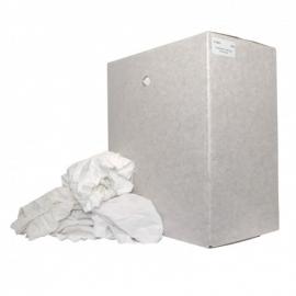 P25610 - Witte poetslappen van 80% katoen scheepskwaliteit doos 10 KG