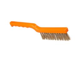 50030138-7 - FBK smalleborstel hoogwaardig polyester kleurcode HACCP 275 x 20 mm harde vezel , oranje 60153