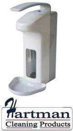 98818 - Zeep- & desinfectiemiddeldispenser kunststof 1000 ml LB + opvangschaal, MediQo-line MQL10K