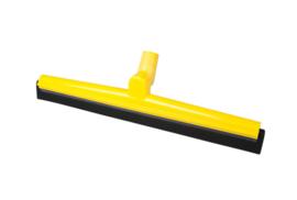 19112119-4 - FBK HCS Vloertrekker met zwenkbare kop en vervangbare zwart rubber 500 mm, geel 28556