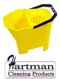 950898 - SYR Mopemmer met handgreep en zeef 7 liter kleurcode geel HACCP