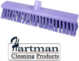 22210130-8 - Hoogwaardige FBK kleurcode HACCP Polyester hygiënische kunststof extra harde bezem 400 x 60 mm paars 25187