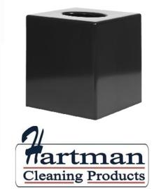 DA603 - Zwarte vierkante tissue box voor vierkante tissue CF204
