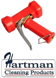 600161024-3 - FBK Waterpistool zwaar model messing 24 bar - tot 95 graden belastbaar rood 0411