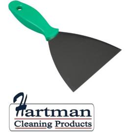 409141009-5- FBK Spatel RVS met kunststofhandvat metaal dedectbaar kleurcode HACCP 100 mm groen 78102
