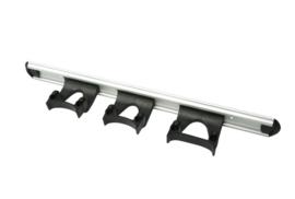711102105-6 - Wand railophangsysteem kleurcode HACCP aluminium 500 mm 3 x klem zwart 15155