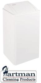 11060 - Afvalbak wit 65 liter gesloten, PP0065 MEDICLINICS