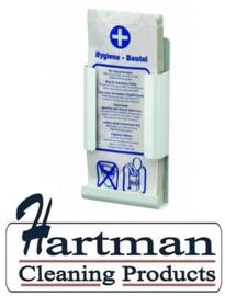 8270 - Hygiënezakjesdispenser wit voor papieren zakjes,MediQo-line MQHBPA P