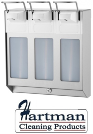 8325 - TRIO Zeep- & desinfectiemiddeldispenser 1000 ml KB RVS MediQo-line