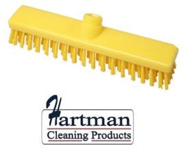 31810101-4 - FBK HACCP kleurcode schrobber met harde vezels geschikt voor hardnekkige reiniging van vloeren en wanden 280 x 50 mm, hard, geel 20153
