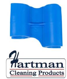 410101104-2 - FBK HCP Polypropyleen Clip voor steel hotel stofblik blauw 80204