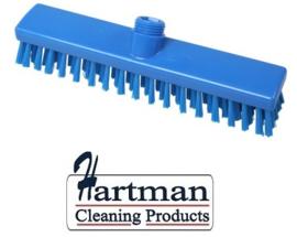 31810101-2 -  FBK HACCP kleurcode schrobber met harde vezels geschikt voor hardnekkige reiniging van vloeren en wanden 280 x 50 mm, hard, blauw 20153