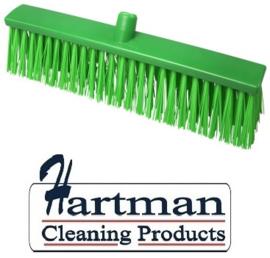 22510134-5 - FBK Hoogwaardige kleurcode HACCP Polyester hygiënische kunststof harde bezem 500 x 60 mm groen 26190