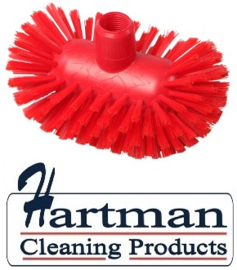 50520108-3 - Hoogwaardige FBK kleurcode HACCP hygiënische polyester medium tankborstel 200 x 120 mm rood 27134