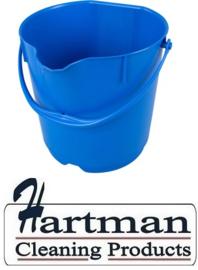 300106101-2 -  FBK Emmer hoogwaardige kleurcode HACCP hygiënische polypropyleen 15 liter  blauw 80101