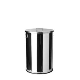 790615 - RVS Afval container met deksel 70 Liter
