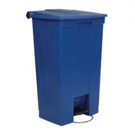 GG987 - Rubbermaid afvalcontainer blauw 87ltr