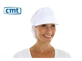 L061 - CMT pet met klep en haaropvang, poly-cotton polyester kroon, wit, x-large