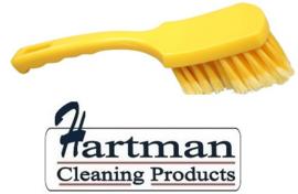 61630110-4 - FBK Handborstel hoogwaardig zacht, gespleten vezel, 275 x 70 mm, geel 10547