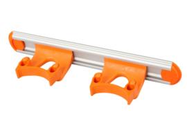 700102104-7 - Wand railophangsysteem kleurcode HACCP aluminium 300 mm 2x klem oranje 15158