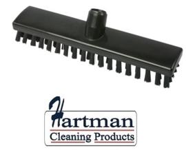 32510104-6 - FBK HACCP kleurcode schrobber met harde vezels geschikt voor hardnekkige reiniging van vloeren en wanden 300 x 60 mm, hard, zwart 23153