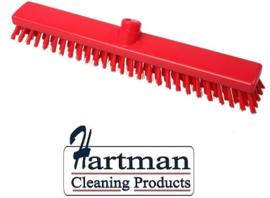 33210102-3 - FBK HACCP kleurcode schrobber met harde vezels geschikt voor hardnekkige reiniging van vloeren en wanden 400 x 50 mm, hard, rood 21153