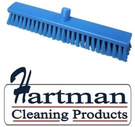 21910127-2  - Hoogwaardige FBK kleurcode HACCP Polyester hygiënische kunststof medium bezem 500 x 60 mm blauw 26155