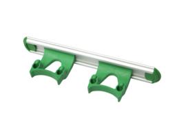 700102104-5 - Wand railophangsysteem kleurcode HACCP aluminium 300 mm 2x klem groen 15158