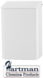 8205 - Afvalbak 6 liter gesloten wit, MediQo-line MQWB6P