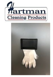 3553392 - Kunststof wanddispenser, zwart model voor PE handschoenen op kaart