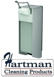 8035 - Zeep- & desinfectiemiddeldispenser aluminium 1000 ml KB,MediQo-line MQ10A