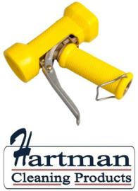 600161024-4 - FBK Waterpistool messing zwaar model 24 bar - tot 95 graden belastbaar geel 0411