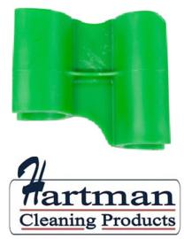 410101104-5 - FBK HCP Polypropyleen Clip voor steel hotel stofblik groen 80204