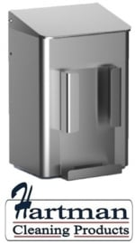 8240 - Hygiëneafvalbak 6 liter aluminium + zakjeshouder, MediQo-line MQWB6HBHA