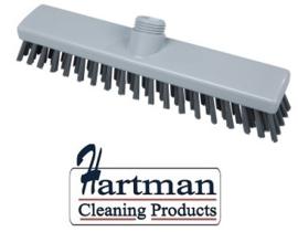 31810101-11 - FBK schrobber met harde vezels geschikt voor hardnekkige reiniging van vloeren en wanden 280 x 50 mm, hard, grijs 20153