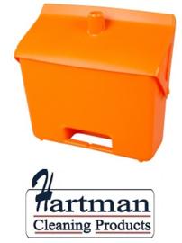 400101101-7 - FBK Hotelstofblik hoogwaardige kleurcode hygiënische polypropyleen oranje 80201