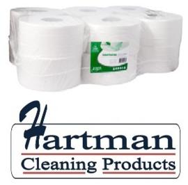 240218  - Toiletpapier tissue euro Mini Jumbo, 2-laags 180 mtr - 12 rol p/pak