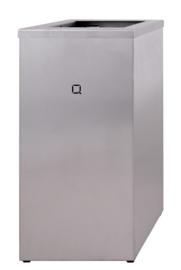 6910 - RVS afvalbak 85 liter open, QWBO85 SSL