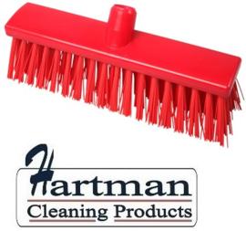 22110129-3 - FBK Hoogwaardige kleurcode HACCP Polyester hygiënische kunststof extra harde bezem 300 x 60 mm rood 23187