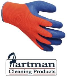 CA975 - Diepvrieshandschoenen Oranje/blauw. per paar universele maat