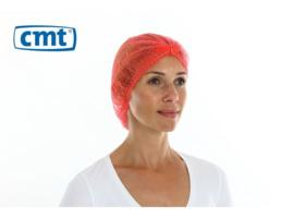 131014 - CMT PP non woven haarnet, rood, 49cm 'clip cap