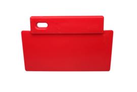38180106-3 - FBK Spatel hoogwaardige kleurcode 200 x 125 mm polypropyleen rood 81900