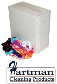 P23610 - Dunne bonte tricotpoetslappen van gewassen badstof kwaliteit 10 kg
